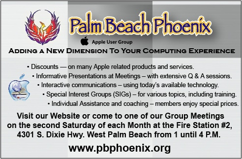 Palm Beach Phoenix Mac Users Group ad