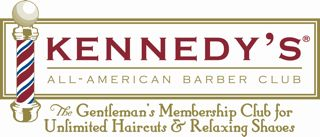 logo for kennedy's barber club