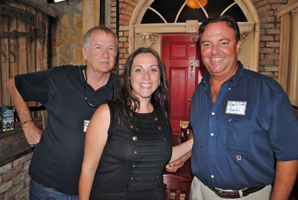 Randy Grinter of Pineapple Groove, a new club going into the site of the old City Limits, with Christie Artura-Klammer of Sustainable Marketing of St. Cloud and David Cook of Hand's Office Supply and Furniture.