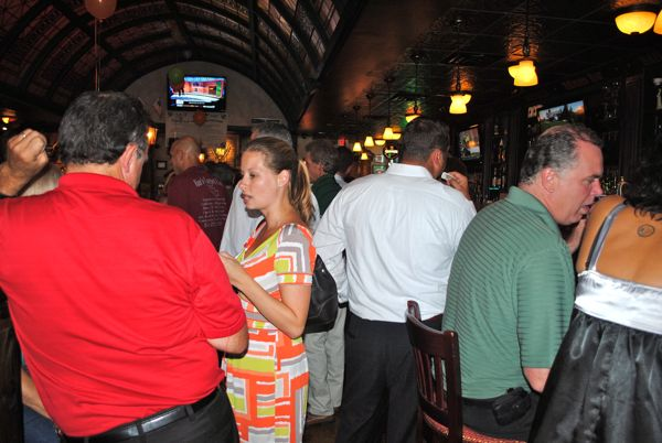 The scene inside Paddy McGee's Thursday evening.